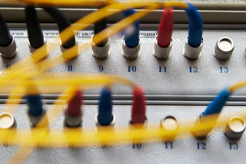 Download Rack Fiber-optic Connections Stock Image - Image: 13116021
