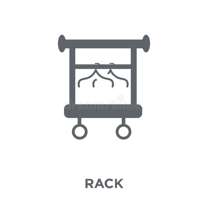 Rack icon from Furniture and household collection. vector illustration
