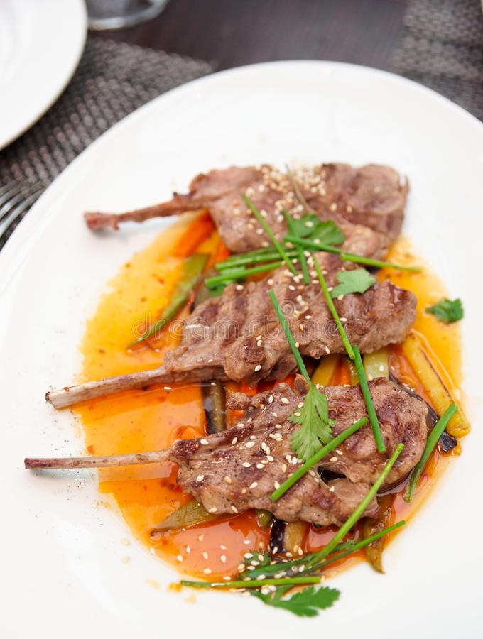 Download Rack of lamb stock photo. Image of delicious, herb, meat - 23419696