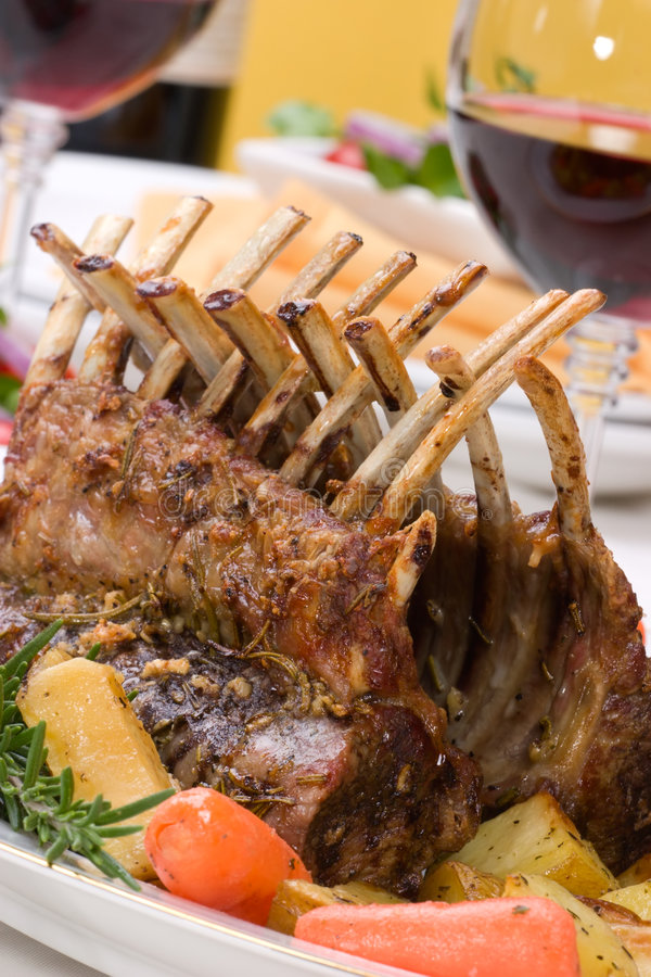 Download Rack of Lamb stock image. Image of juicy, lunch, chops - 7819937