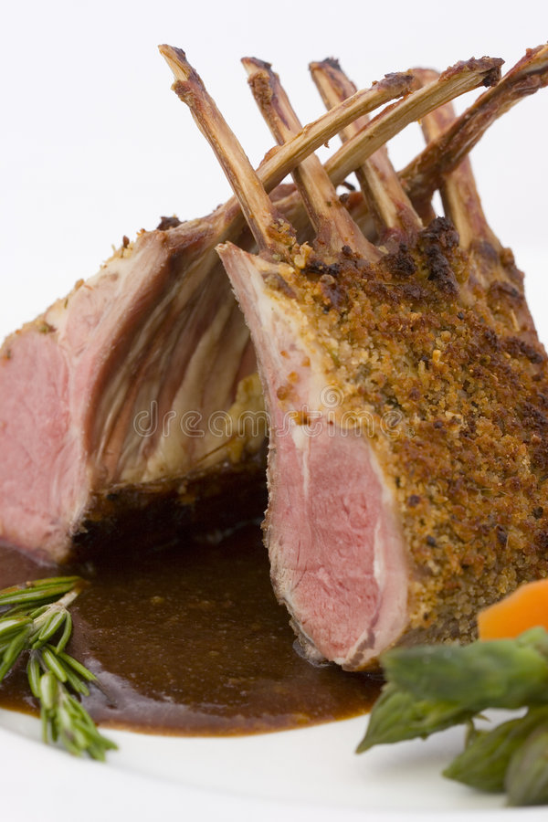 Download Rack of Lamb - Close stock image. Image of vegetables - 1497677