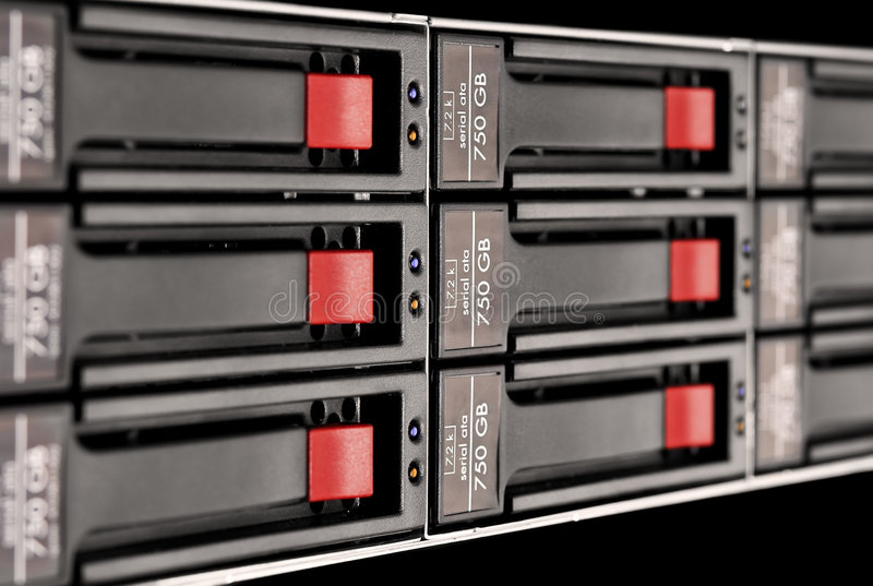 Download Rack-mounted disk array stock photo. Image of linux, macintosh - 4719512
