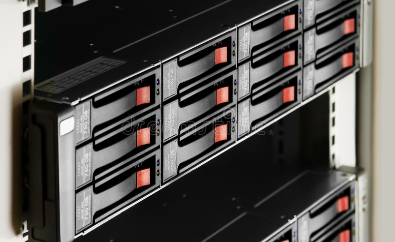 Download Rack-mounted Disk Array Stock Photo - Image: 4827390