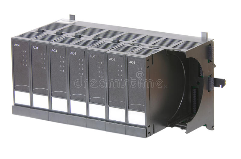 Rack with several Input/Output modules