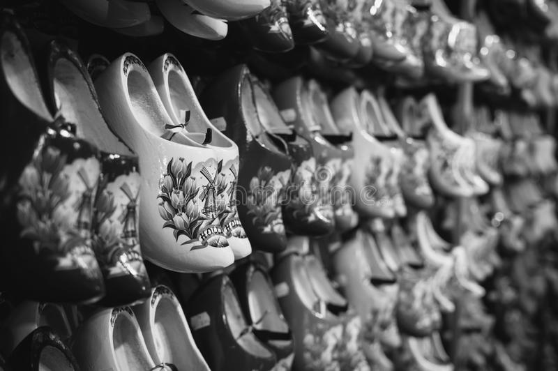 Rack of shoes stock photo