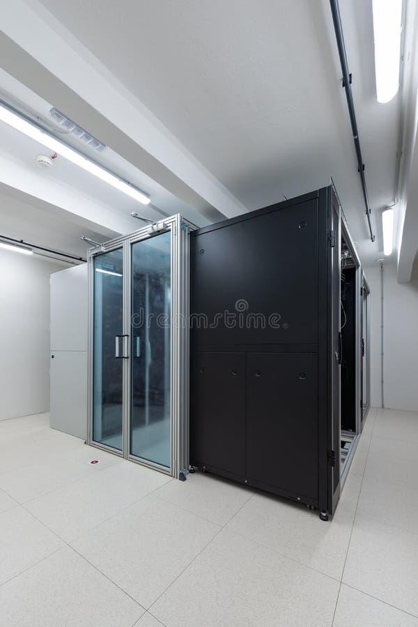 Rack units of data processing service center environmental control royalty free stock photos