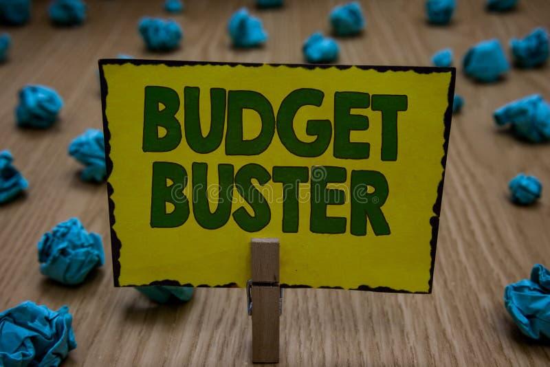 Rackare för budget för textteckenvisning Köpslår den bekymmerslösa utgifter för begreppsmässigt foto onödiga köp som ger ut för m royaltyfri fotografi