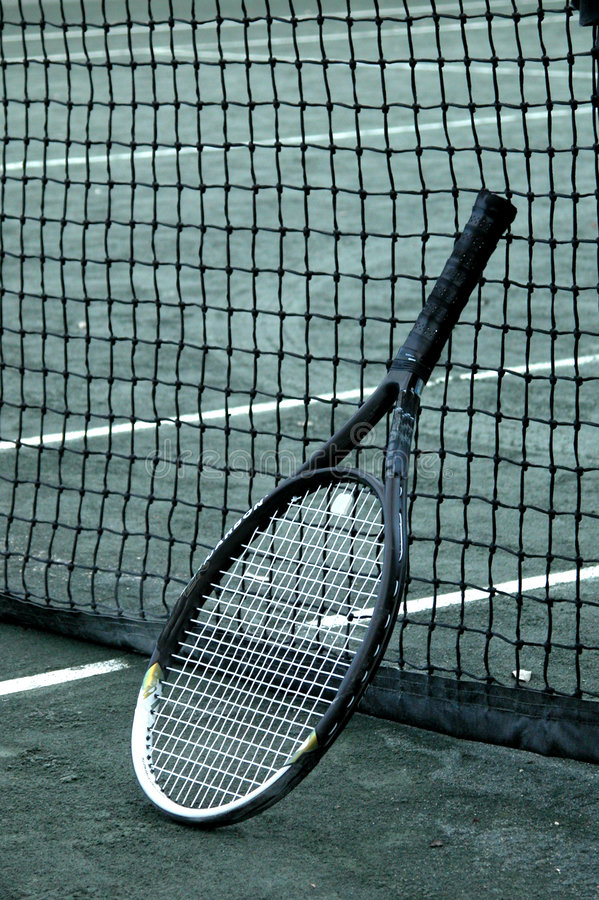 Download Racket on Net stock photo. Image of lines, racket, ready - 479246