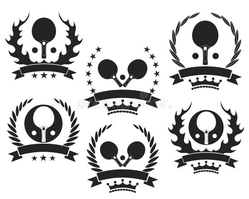 racket och klumpa ihop sig isolerat på vit royaltyfri illustrationer