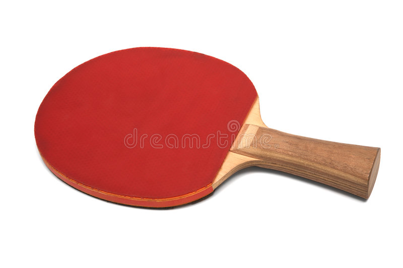Racket for ping-pong stock images