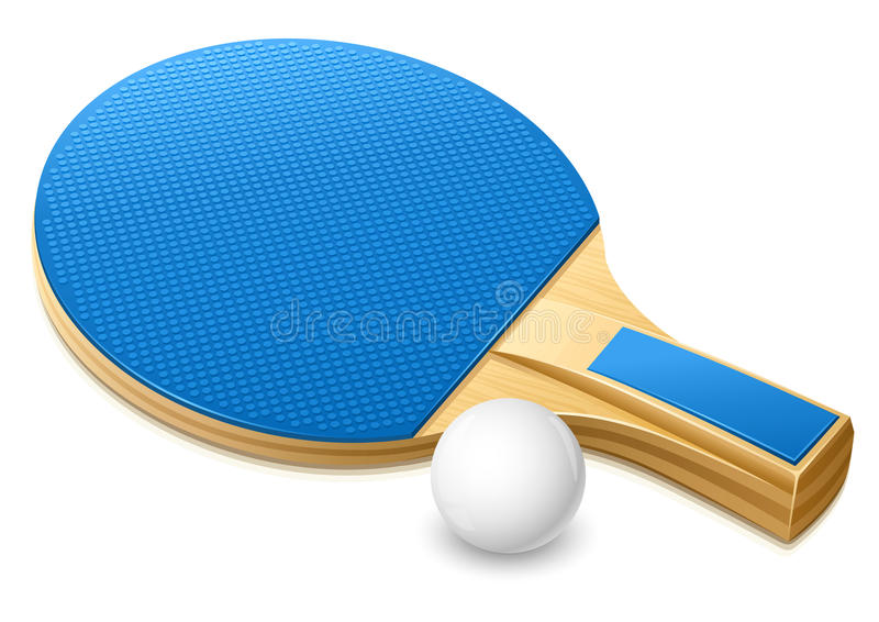 Download Racket For Playing Table Tennis Game Stock Illustration - Illustration of inventory, racket: 9496449