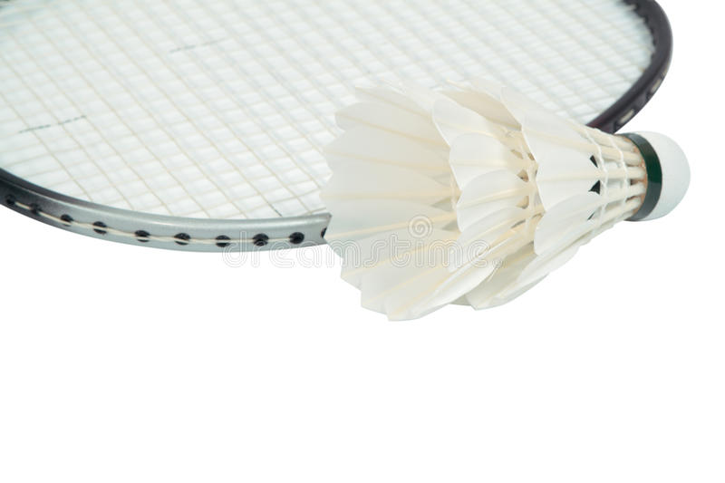 Racket and shuttlecock royalty free stock images
