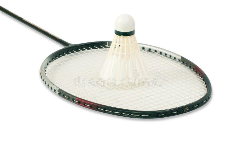 Racket and shuttlecock stock image