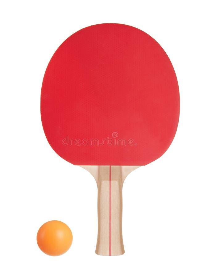 Racket voor pingpong en bal stock foto's