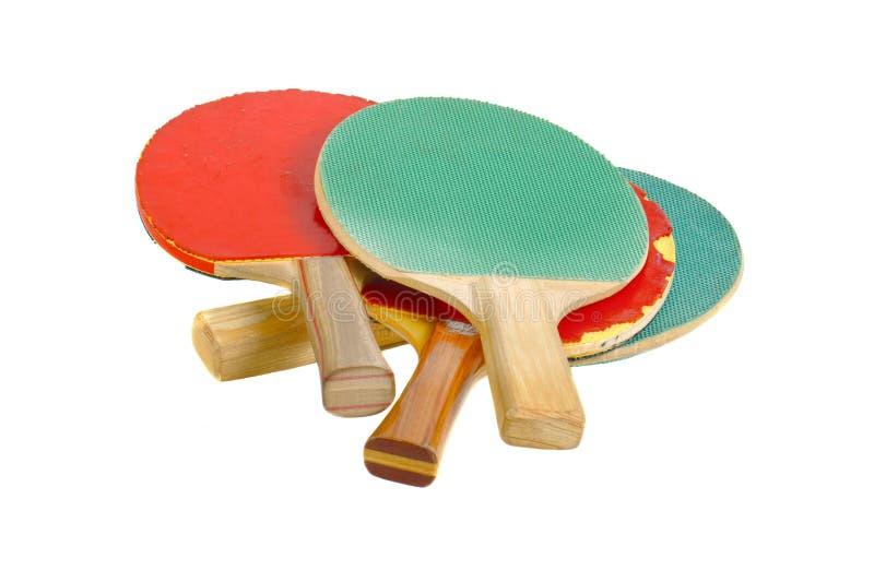 Racketd del ping-pong fotografía de archivo