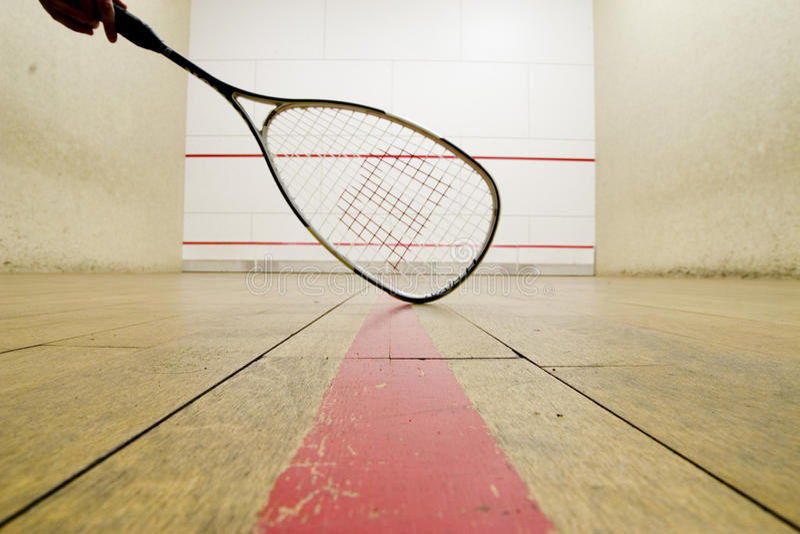 racketsquash arkivbild