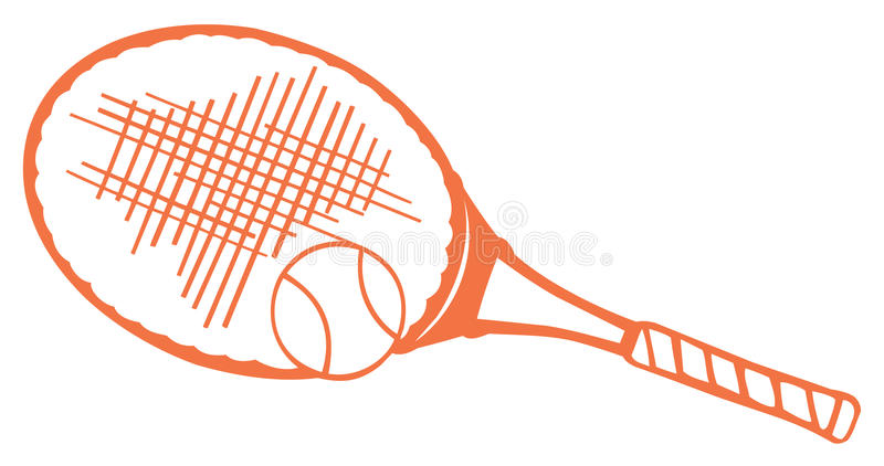 rackettennis stock illustrationer