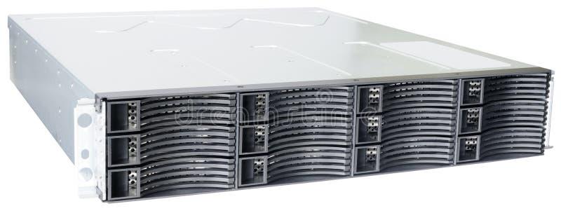 Rackmount Disk Storage Isolated Stock Photo