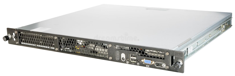 Rackmount Server über Weiß stockfoto