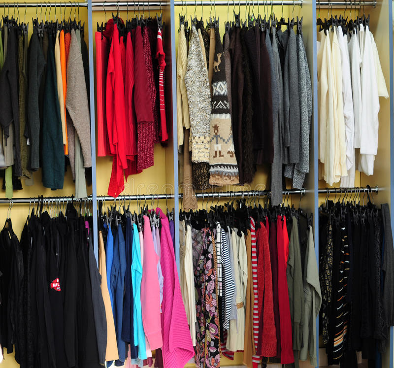 Download Racks With Clothes Royalty Free Stock Photos - Image: 19222018