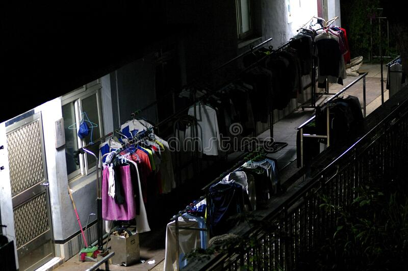 Racks Of Clothes Outdoors Free Public Domain Cc0 Image
