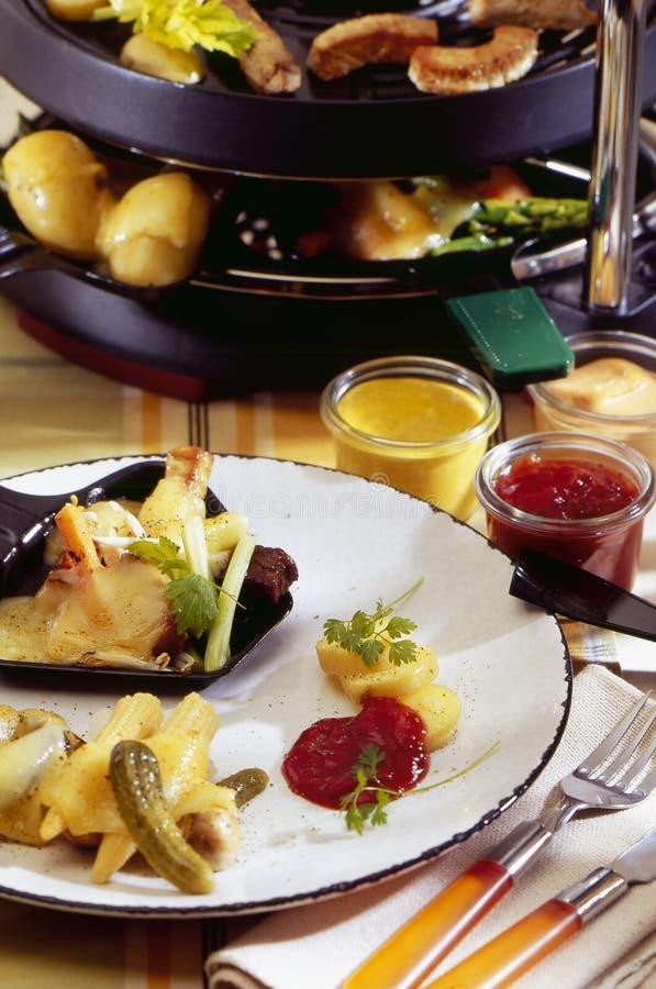 raclette fotografia stock