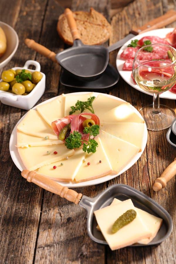 Raclette royalty-vrije stock foto's