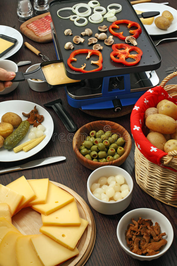 raclette dinner stock photo image of culture potato 28010072. Black Bedroom Furniture Sets. Home Design Ideas
