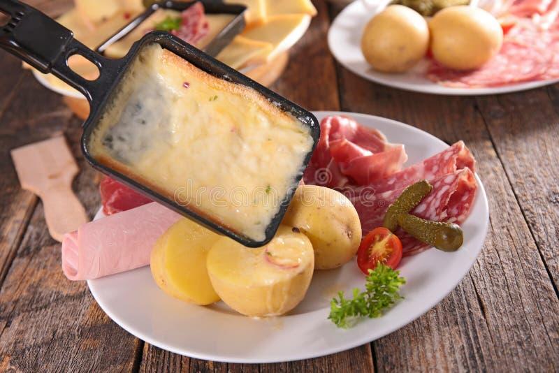 Raclette, fondue fotografia de stock royalty free