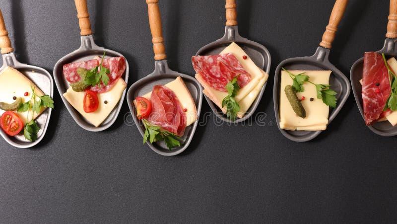 Raclette Käse stockfoto