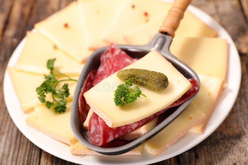Raclette ost royaltyfri bild