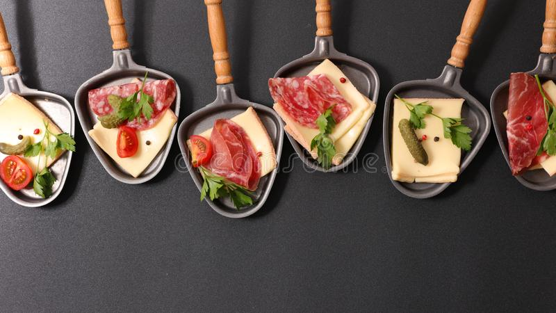 Raclette ser zdjęcie stock
