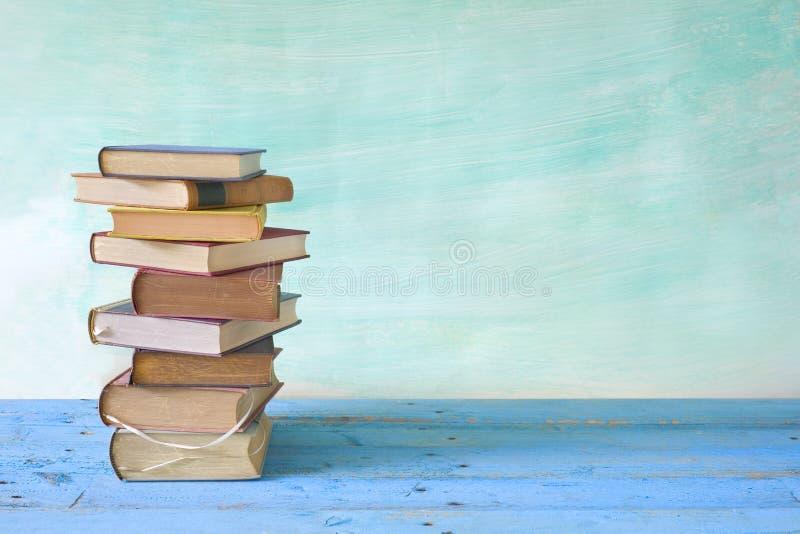 Rad av böcker royaltyfri bild