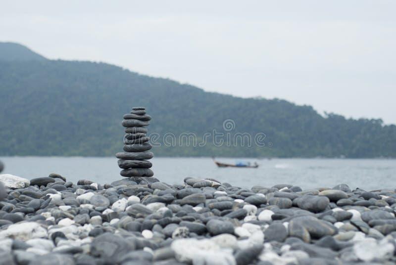 Rad av stenen arkivbild