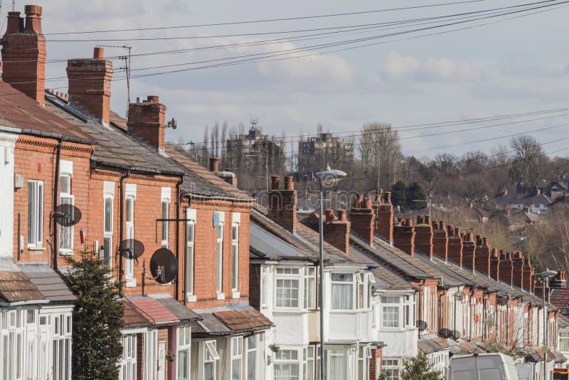 Rad av terrasserade hus royaltyfria bilder