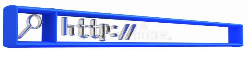 rad för internet 3d royaltyfri illustrationer