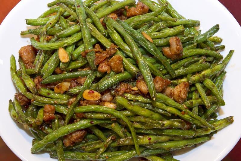rad för mat för mandelbönor feg kinesisk royaltyfri foto