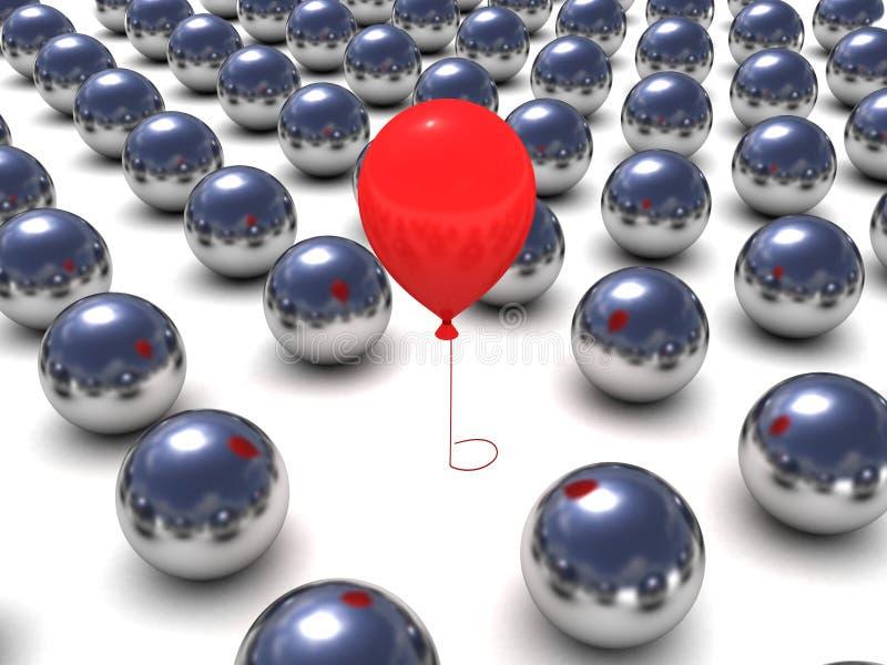 rad för red för metall för ballongbollegenart royaltyfri illustrationer
