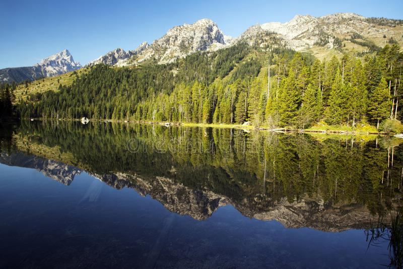 Rad för Yellowstone ` s sjö arkivbild