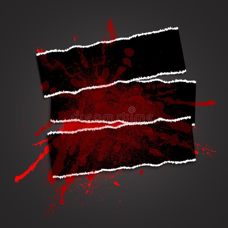 Rad-fläck på en black01 stock illustrationer