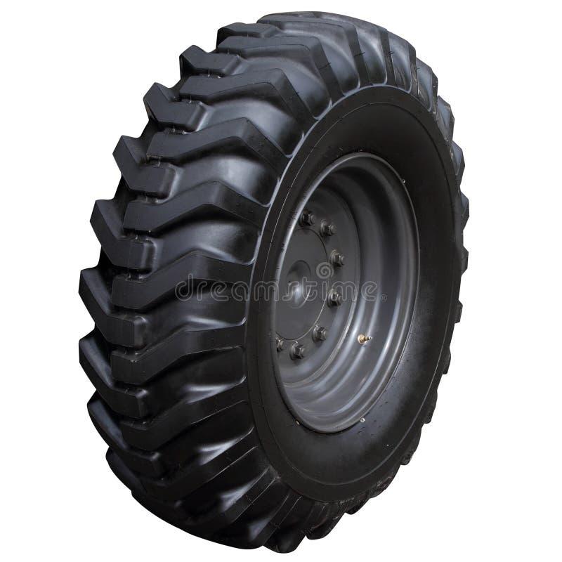 Rad mit einem hohen Schutz des Traktors stockfoto