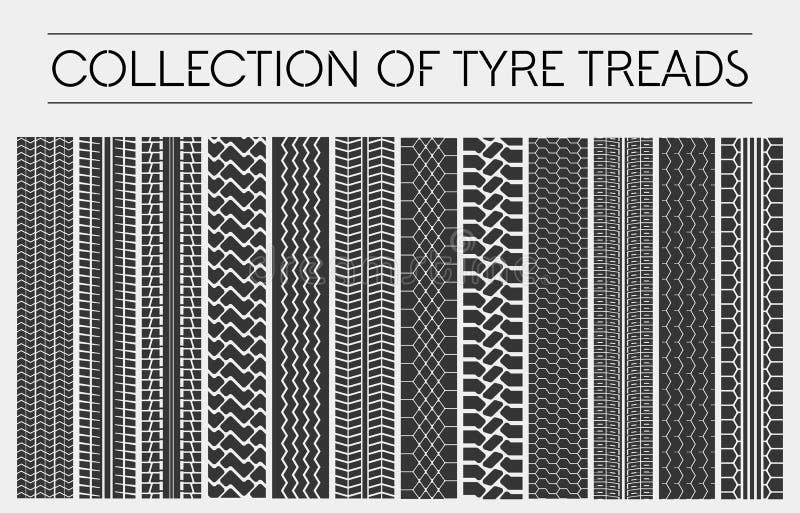 Rad oder Reifen, Reifenschritte oder Autobahnen lizenzfreie abbildung