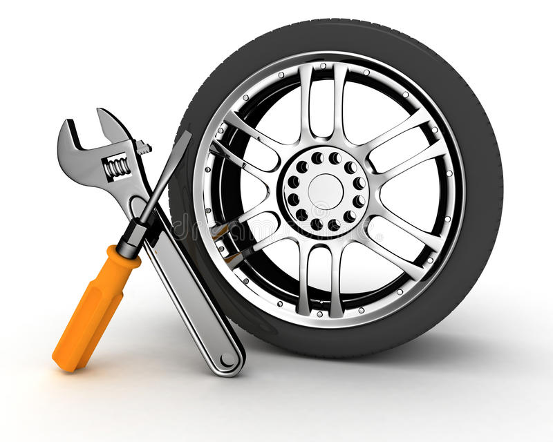 Rad und Hilfsmittel vektor abbildung