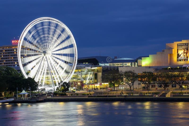 Rad von Brisbane in der kulturellen Mitte lizenzfreies stockbild