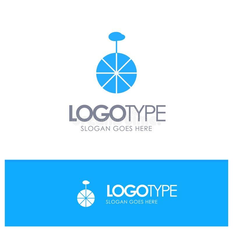 Rad, Zyklus, Zirkus-blauer Logovektor lizenzfreie abbildung