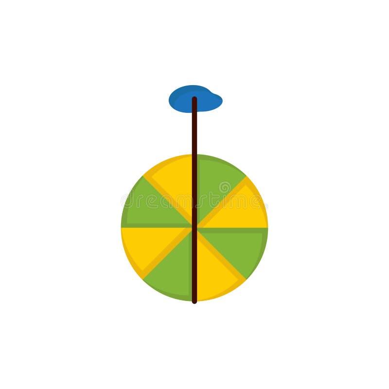 Rad, Zyklus, Zirkus-flache Farbikone Vektorikonen-Fahne Schablone vektor abbildung