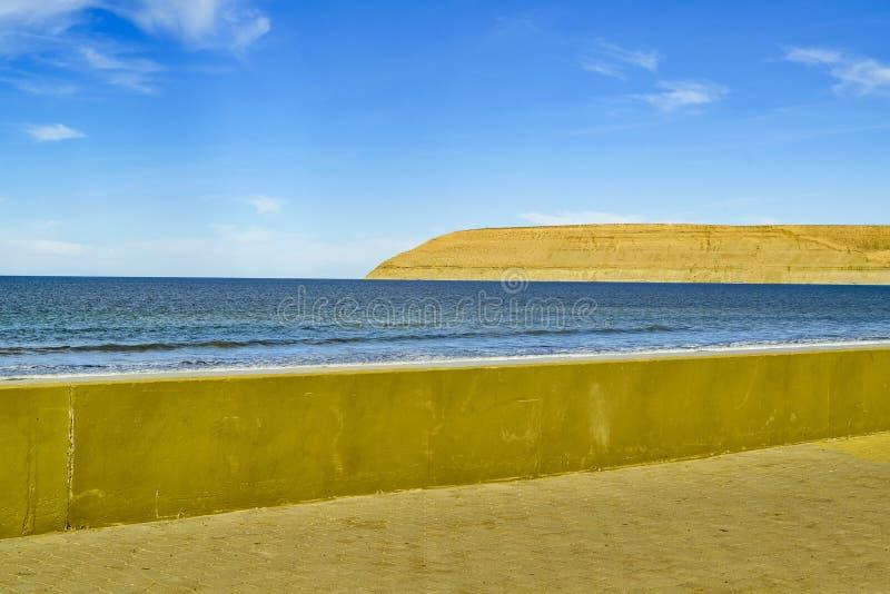 Rada蒂利海滩Chubut阿根廷 库存图片