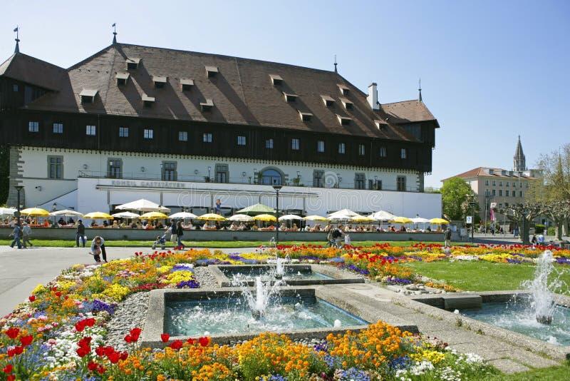 Rada budynek w Constance przy Jeziornym Constance zdjęcia royalty free