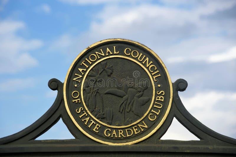 Rada Narodowa stanu i ogródu kluby zdjęcie royalty free