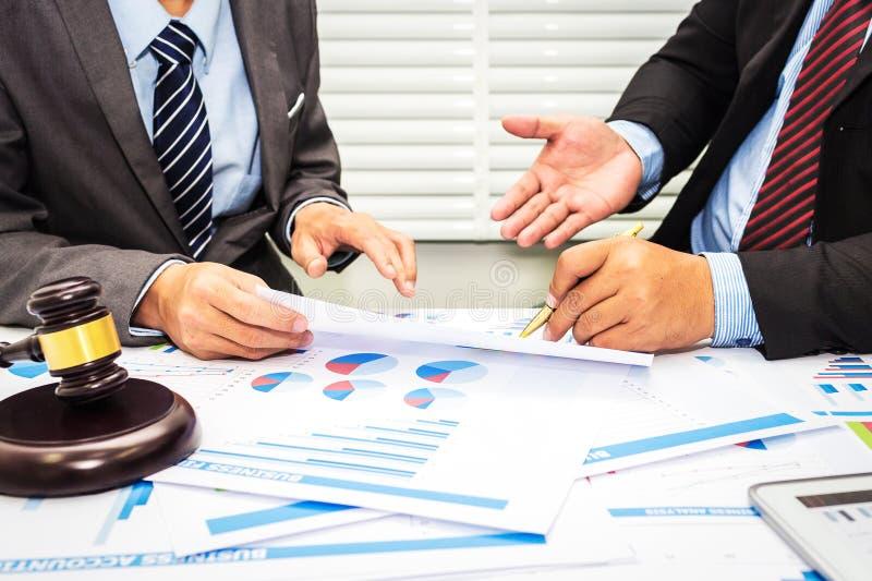 Rada prawnicy i bankowowie fotografia stock